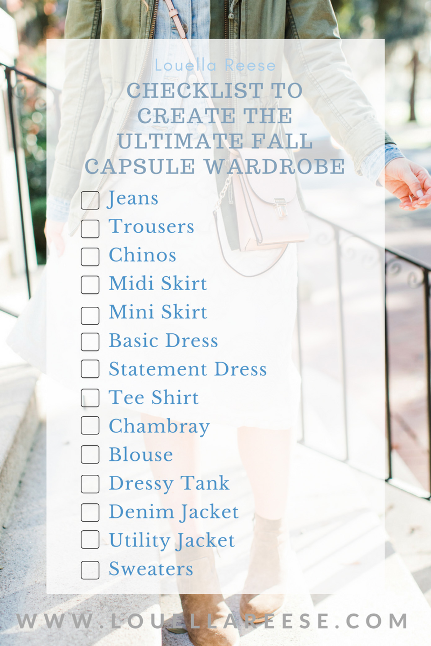 How to Build a Fall Capsule Wardrobe | Capsule Wardrobe Check List | Louella Reese Life & Style Blog