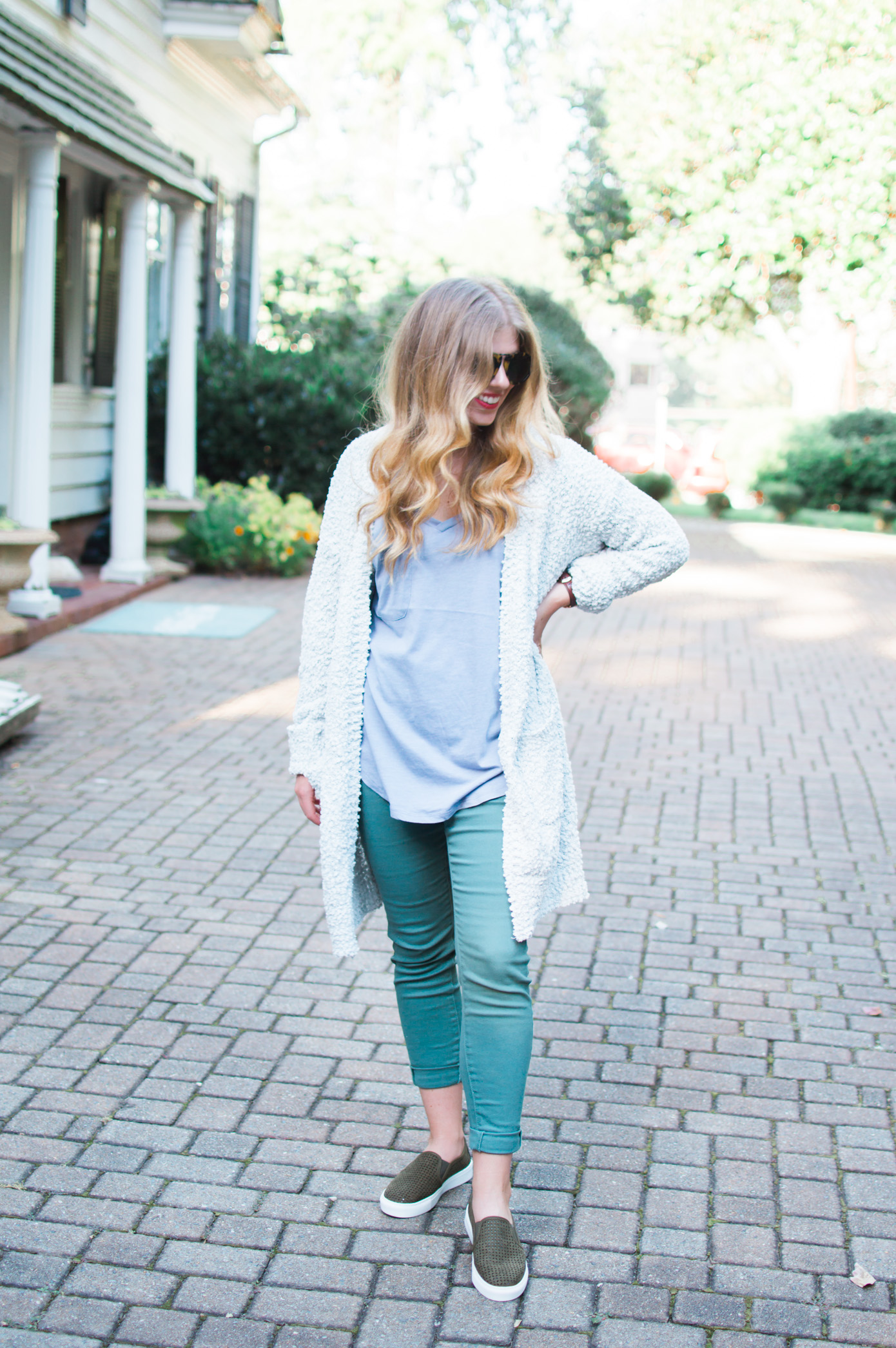 Olive Green Pants for Fall | How to Style Green Pants | Louella Reese Life & Style Blog