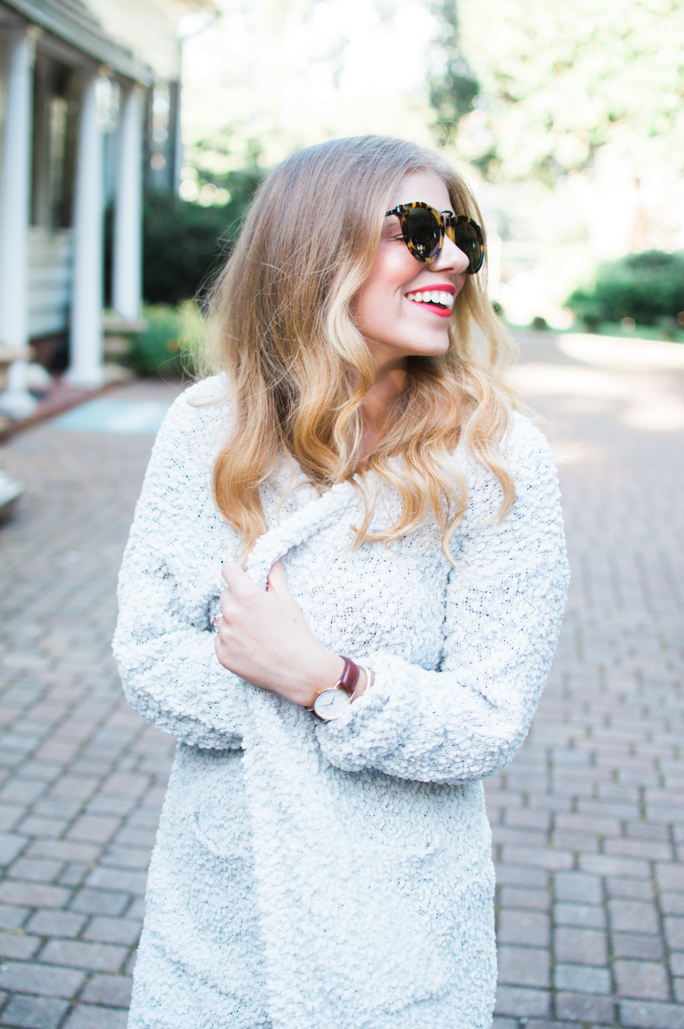 Olive Green for Fall | Cozy Oversized Cardigan | Louella Reese Life & Style Blog