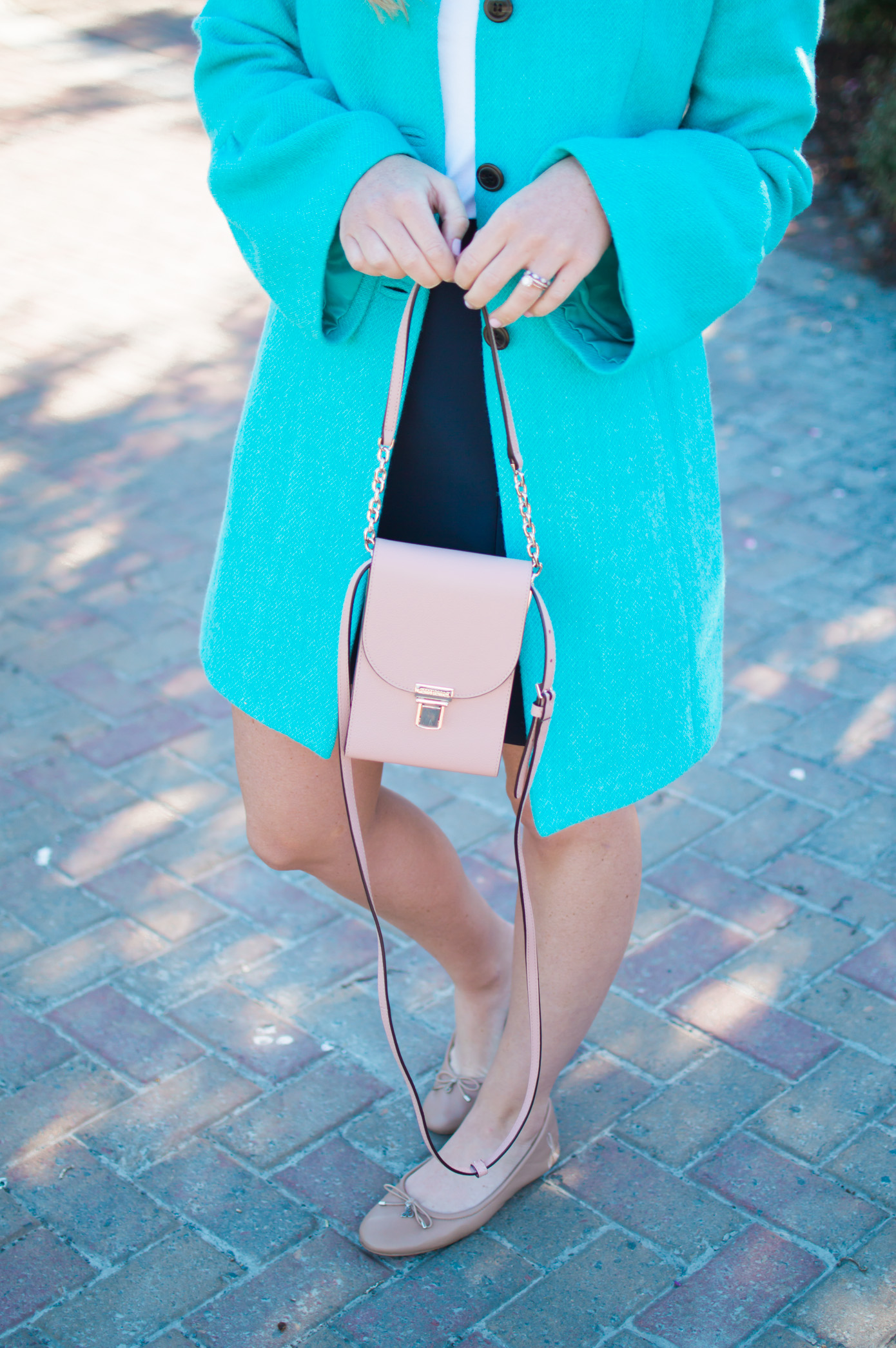 Statement Coat | Blush Crossbody| Louella Reese Life & Style Blog