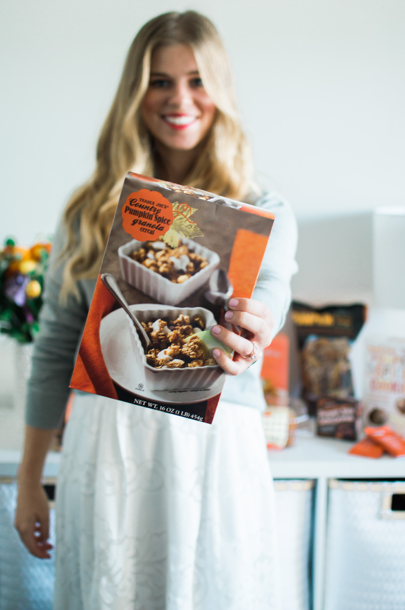 Trader Joe's Pumpkin Product Reviews | Pumpkin Spice Granola | Louella Reese Life & Style Blog