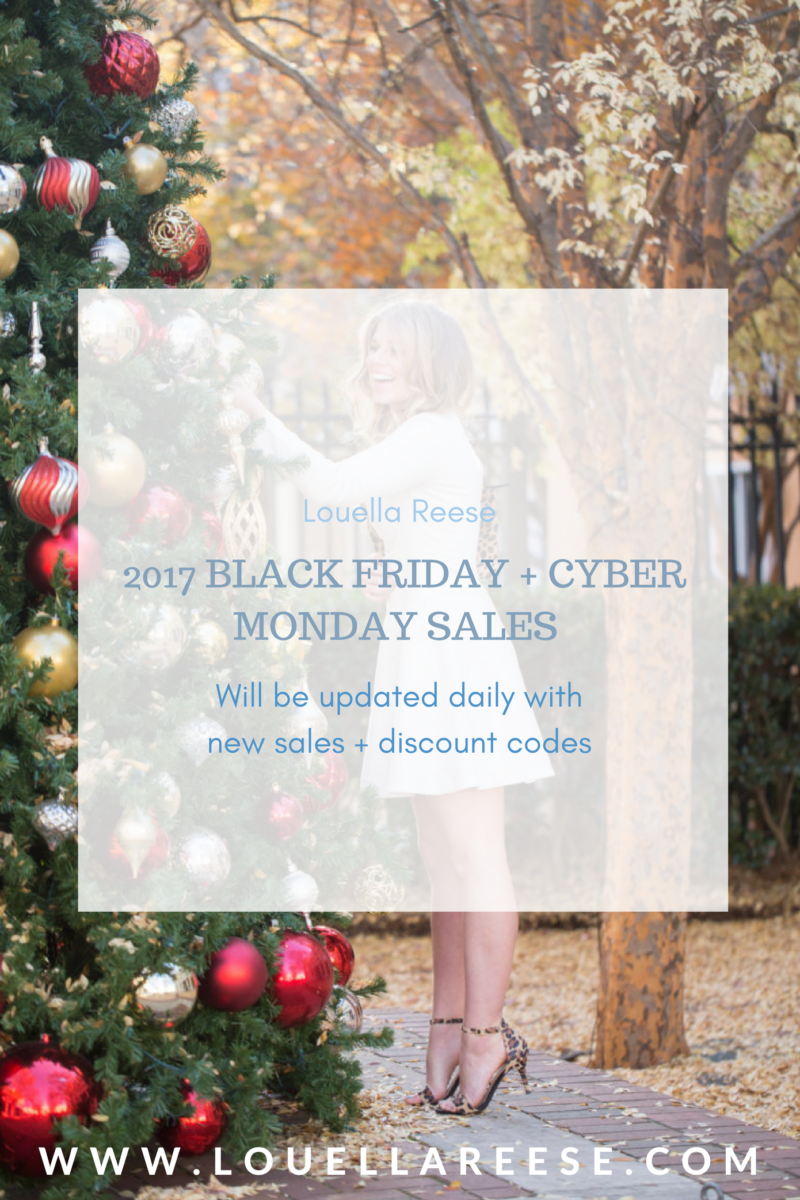 2017 Black Friday Sales + Cyber Monday Sales