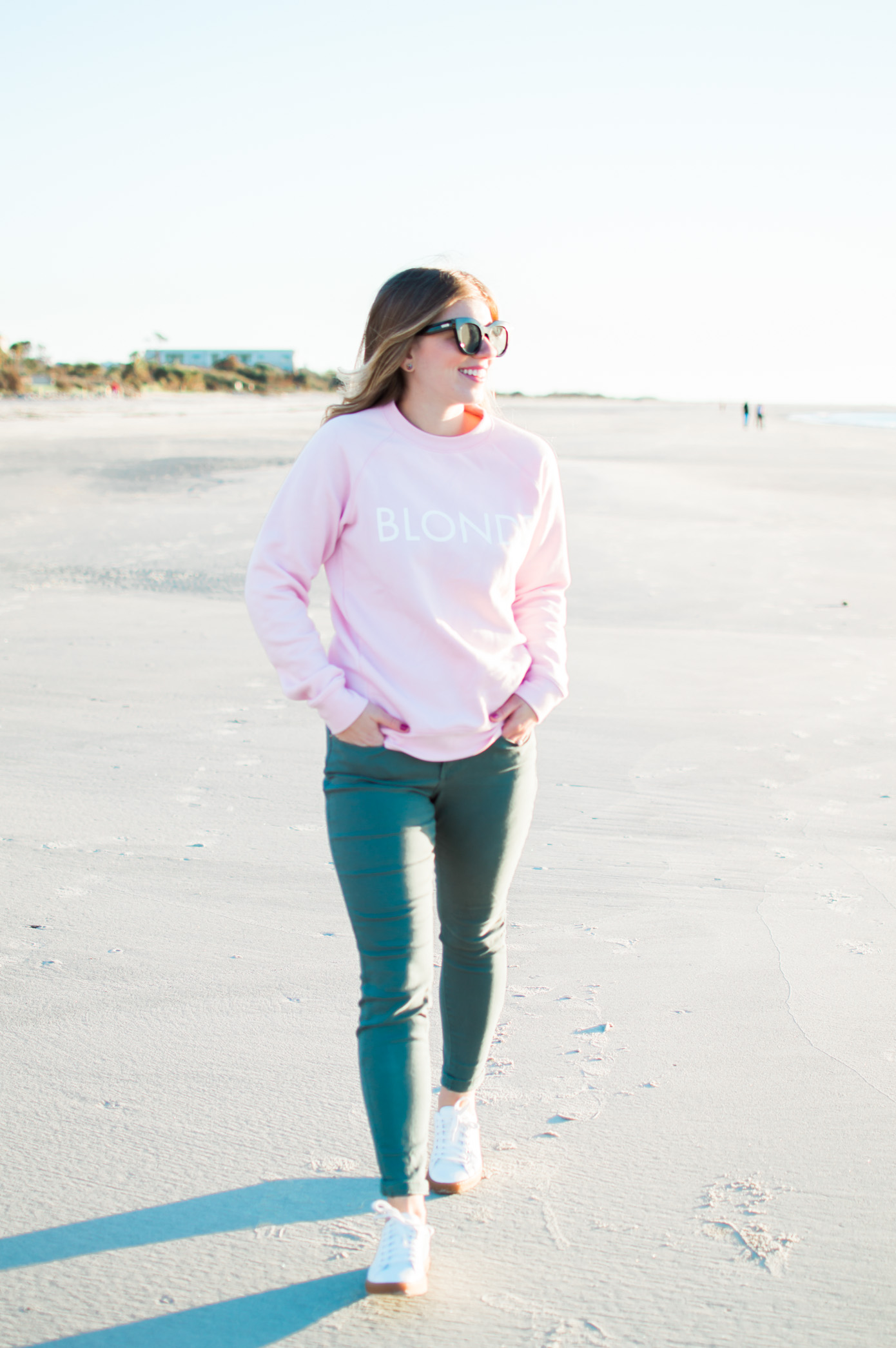 Blonde Sweatshirt | Graphic Sweatshirt | Gift for Your Bestie | Louella Reese Life & Style Blog