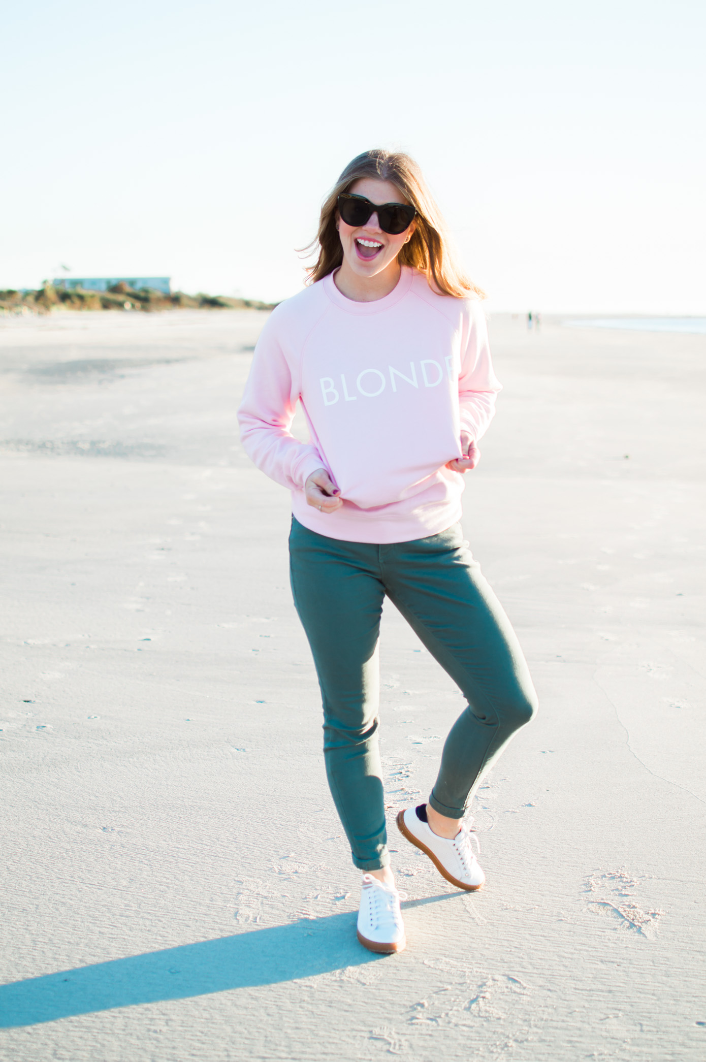 Blonde Sweatshirt | Graphic Sweatshirt | Christmas Gift for Your Bestie | Louella Reese Life & Style Blog