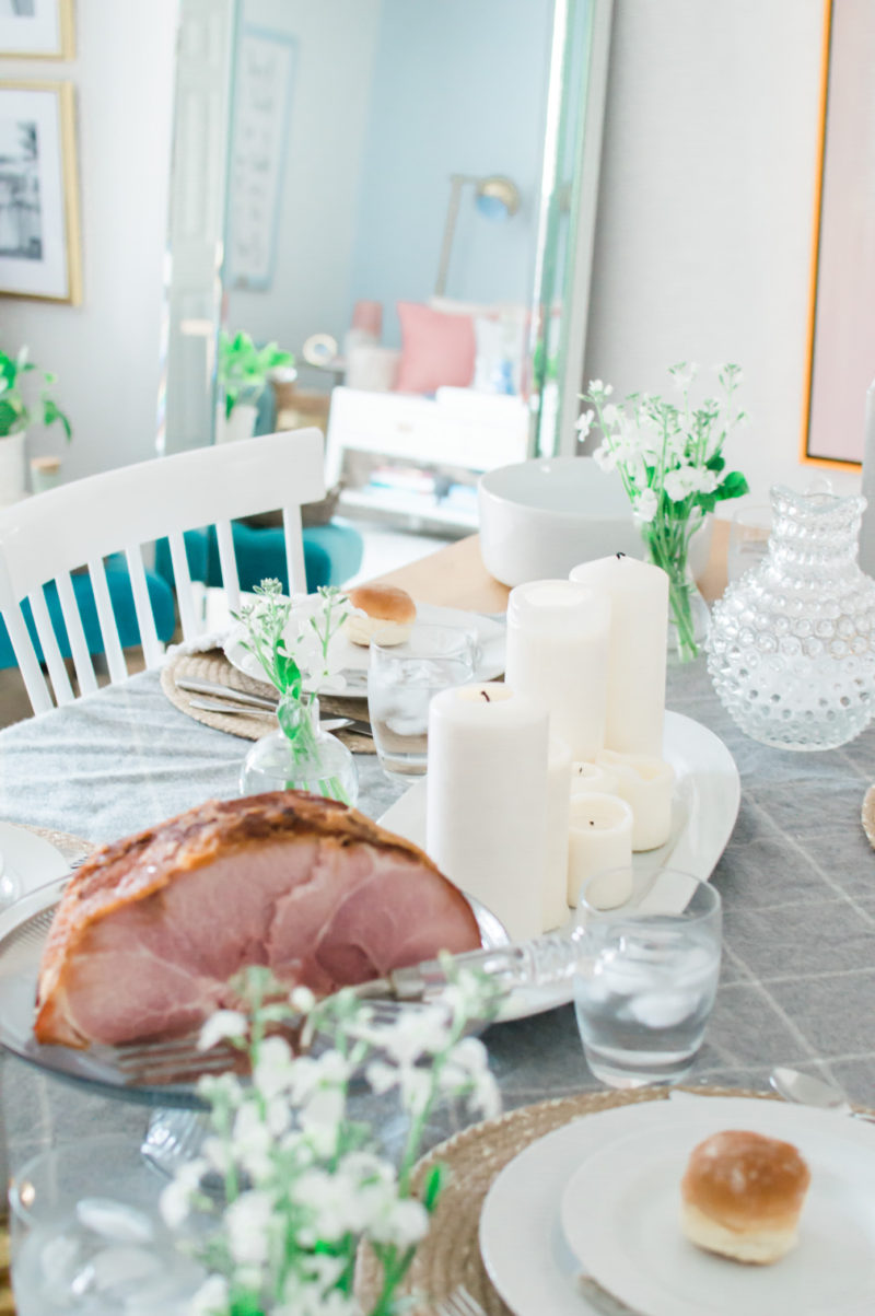 #Friendsgiving Tablescape with Honey Baked Ham