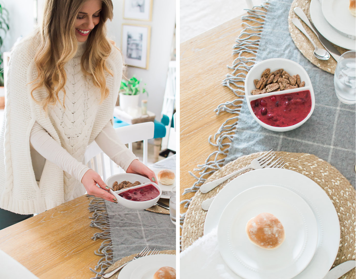 Friendsgiving Tablescape | Feminine Friendsgiving | Louella Reese Life & Style Blog