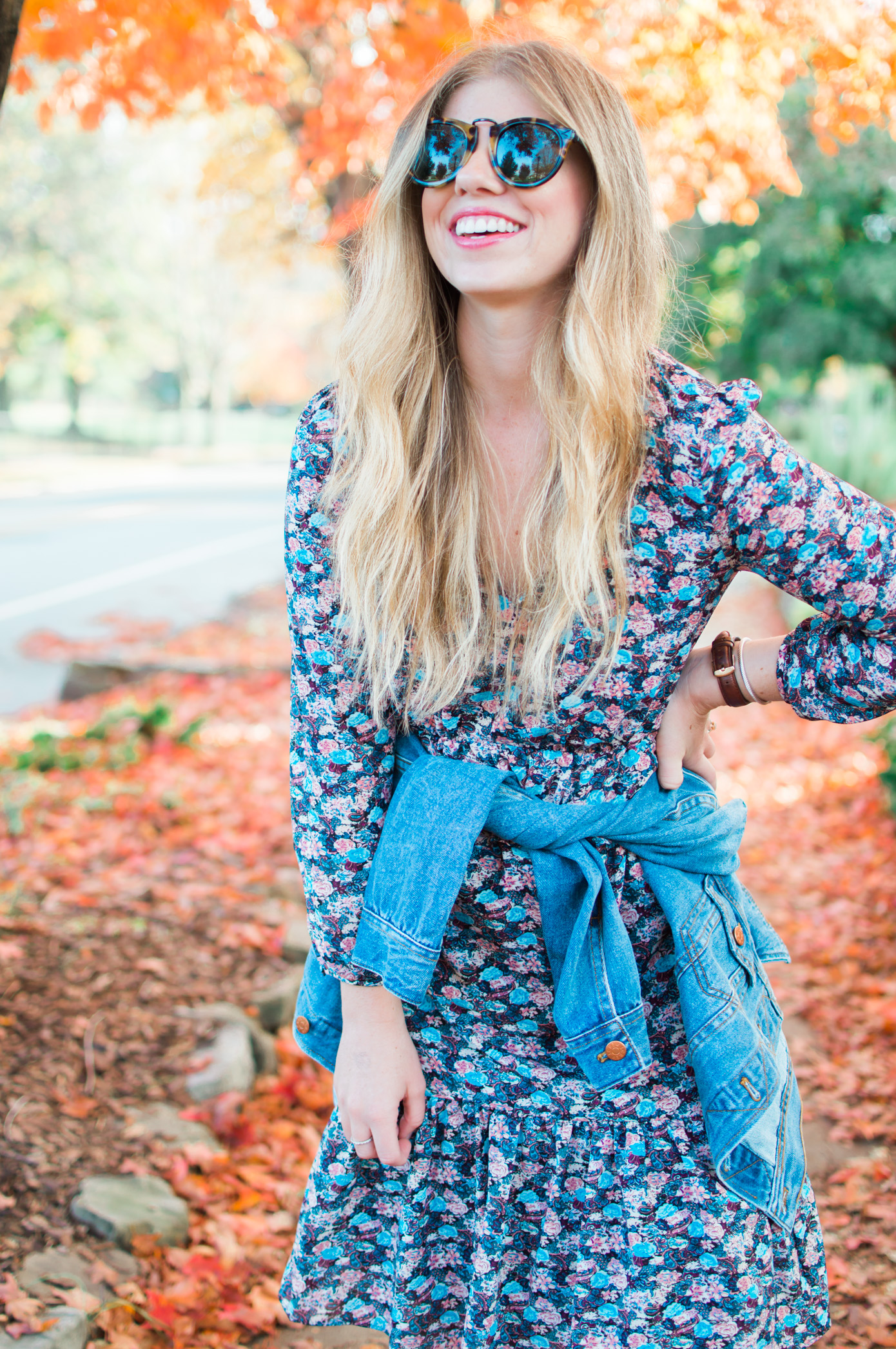 J.Crew Ruffle Hem Dress in Floral Paisley | Fall Dresses | Louella Reese Life & Style Blog