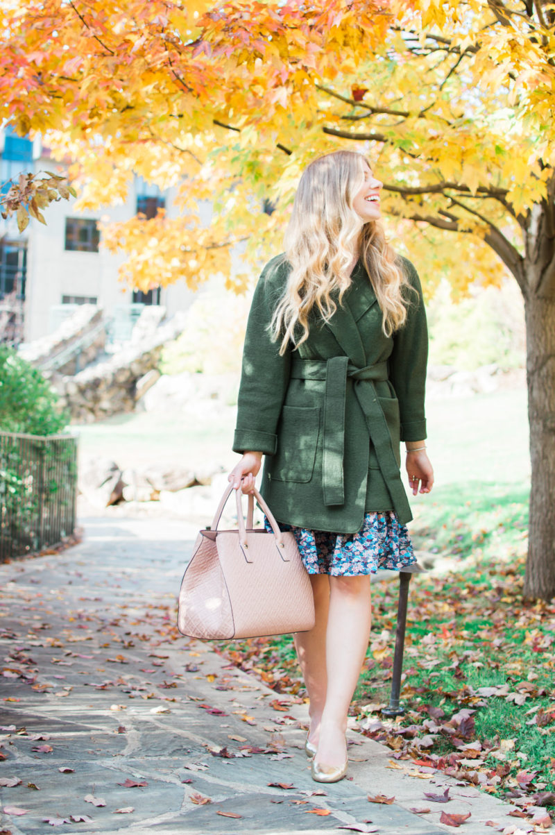 Olive Wrap Coat | Asheville, NC