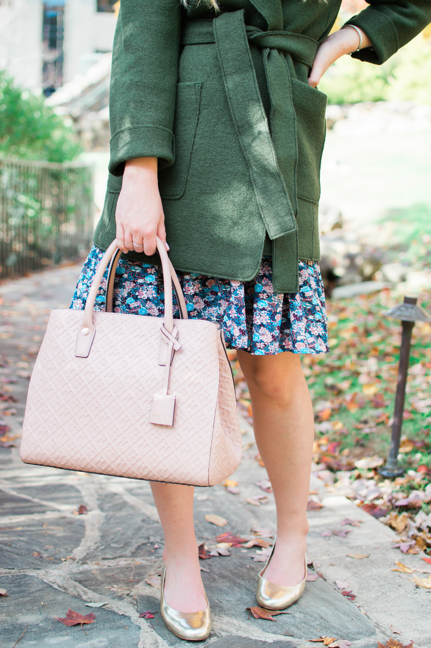 J.Crew Wrap Coat | Olive Wrap Coat for Winter | Louella Reese Life & Style Blog