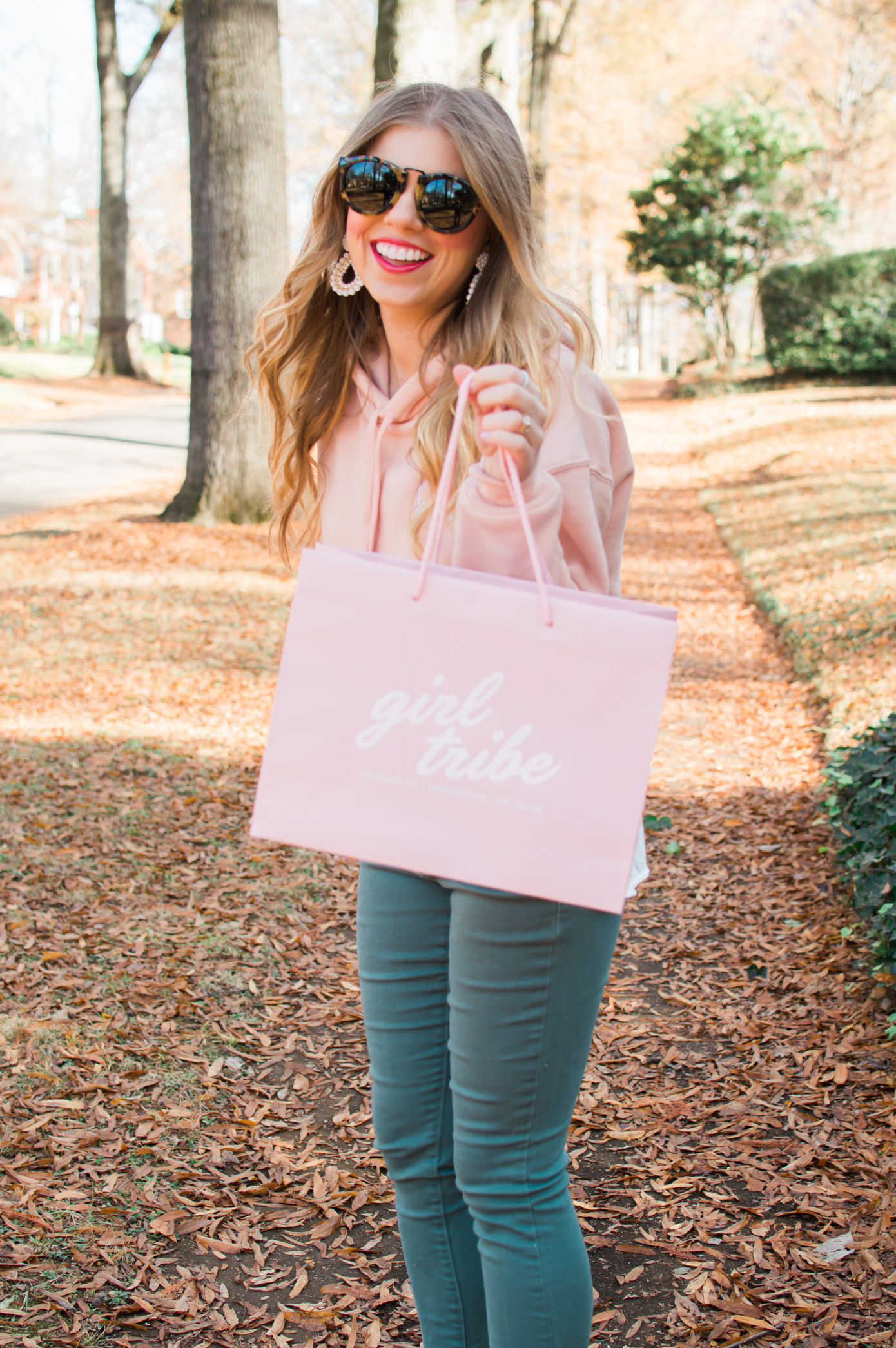 Louella Reese Shop Local | Girl Tribe Cropped Sweatshirt | Louella Reese Life & Style Blog
