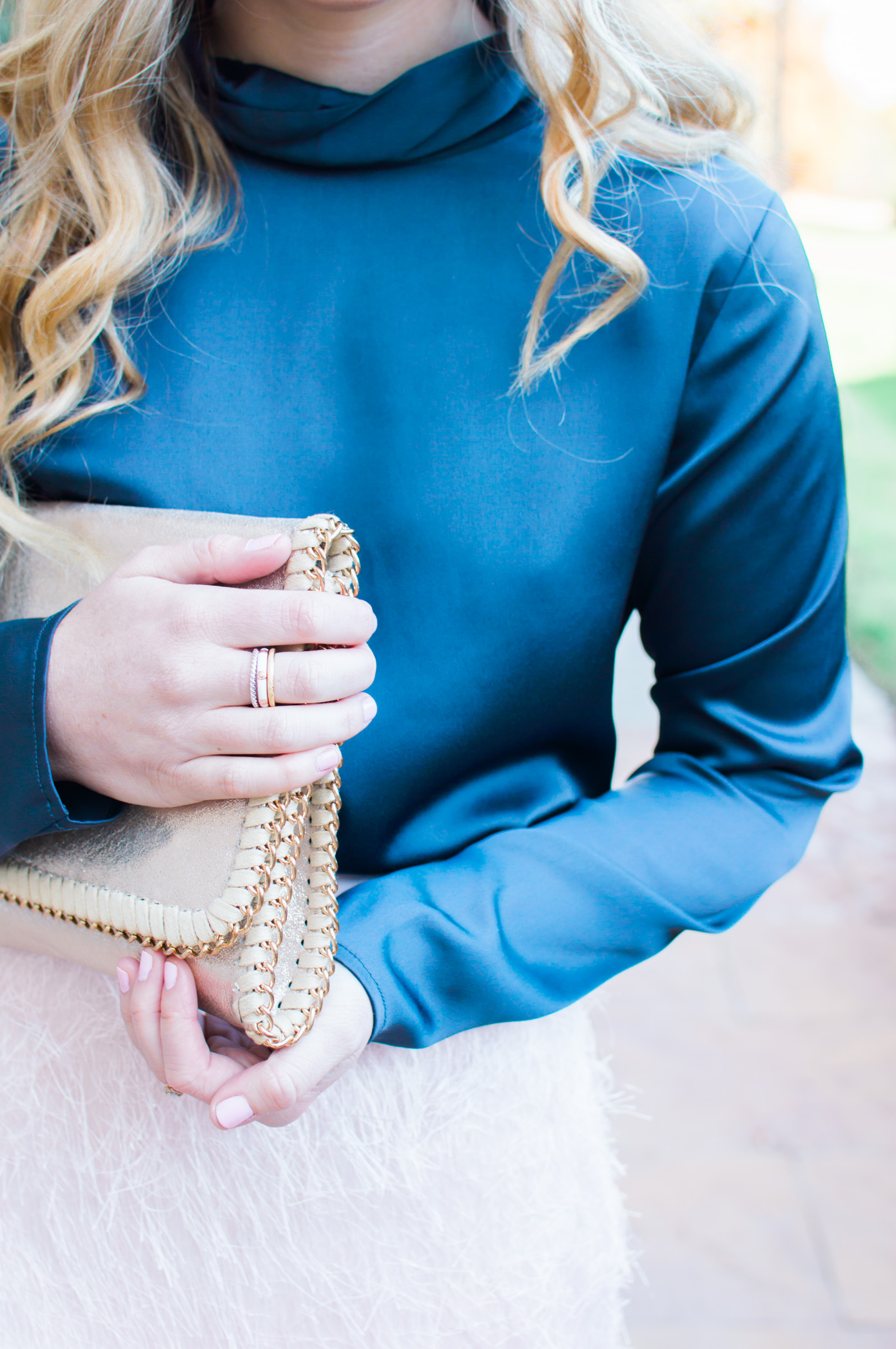 Holiday Fringe Pencil Skirt | Holiday Party Outfit Idea | Louella Reese Life & Style Blog