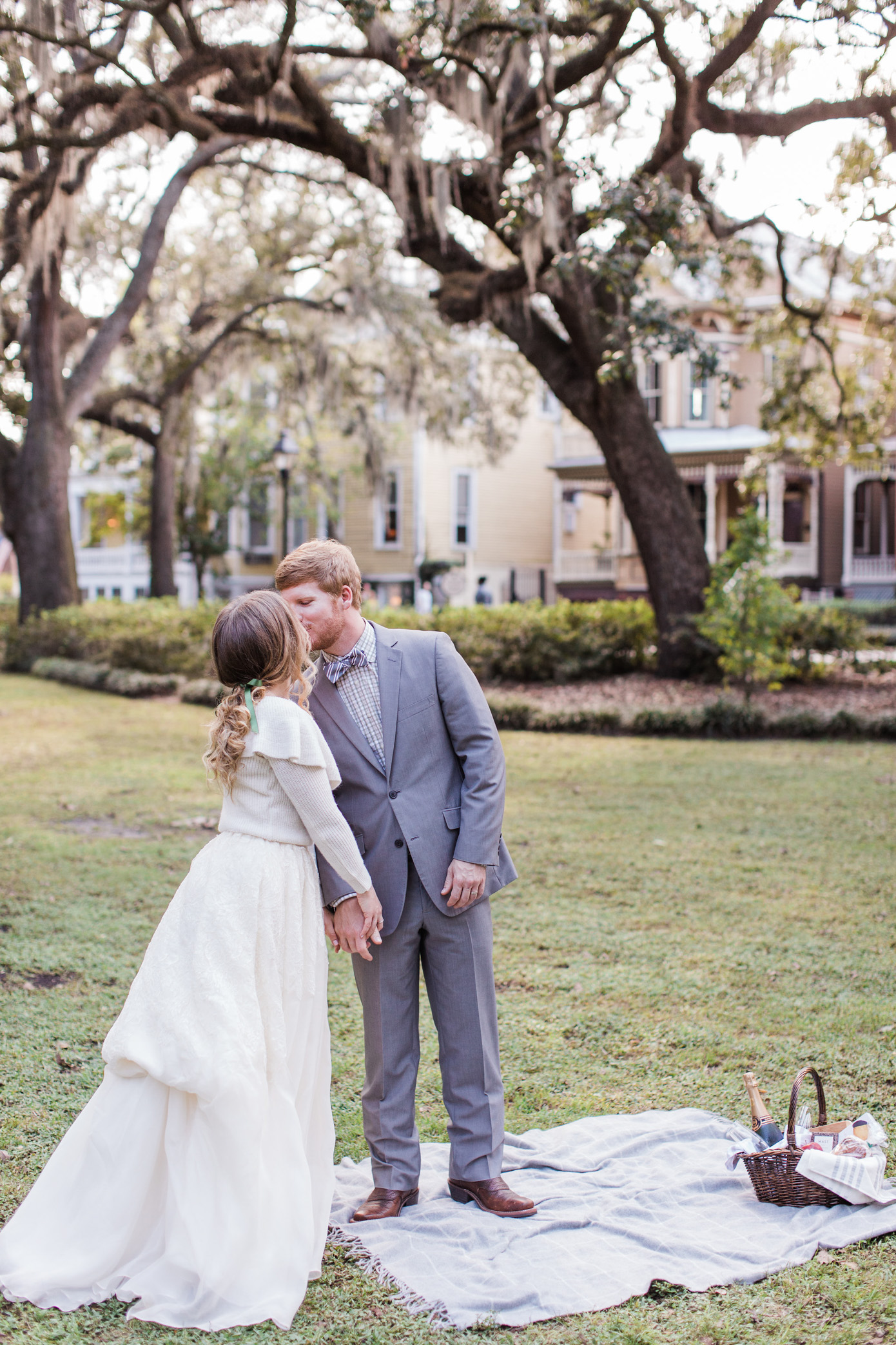 Savannah Picnic Anniversary Photos | Couple Christmas Photos | Louella Reese Life & Style Blog