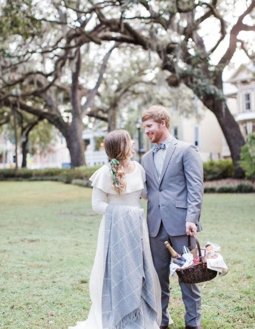 Savannah Picnic Anniversary Photos | Couple Christmas Photos | Louella Reese Life & Style Blog