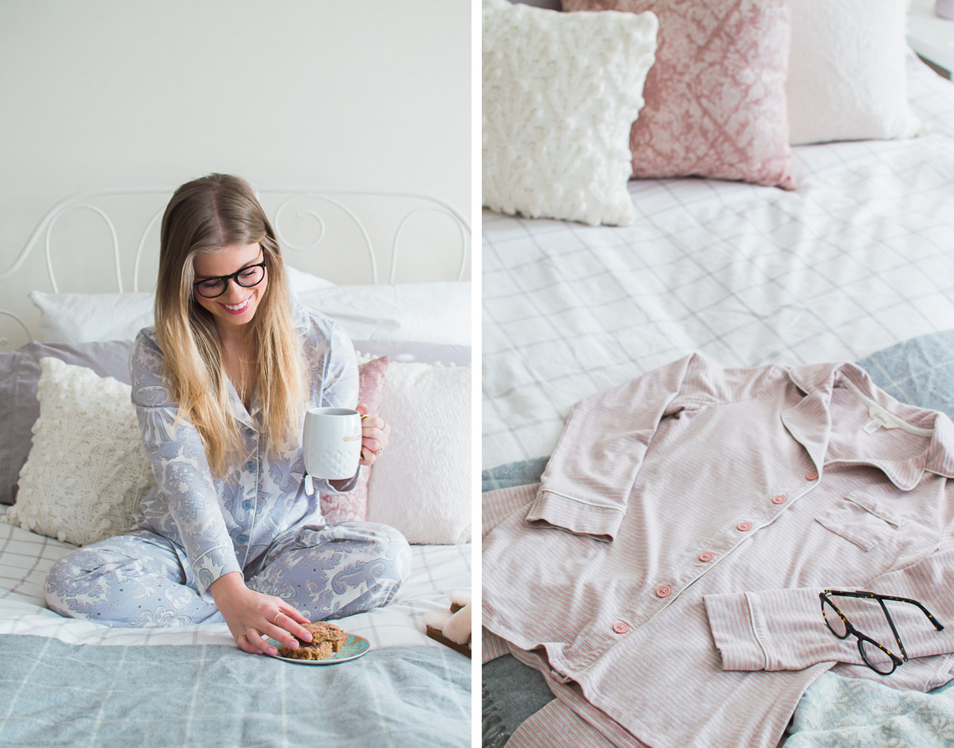 Comfy Pajama Sets | Winter Pajamas | Louella Reese Life & Style Blog