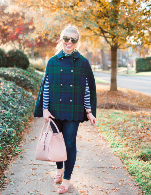 Blackwatch Cape | Winter Wardrobe Must Haves | Louella Reese Life & Style Blog