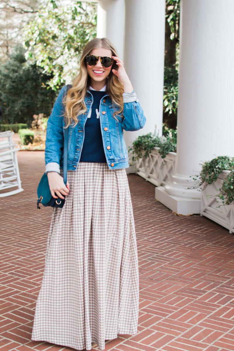 How to Make a Maxi Skirt Casual