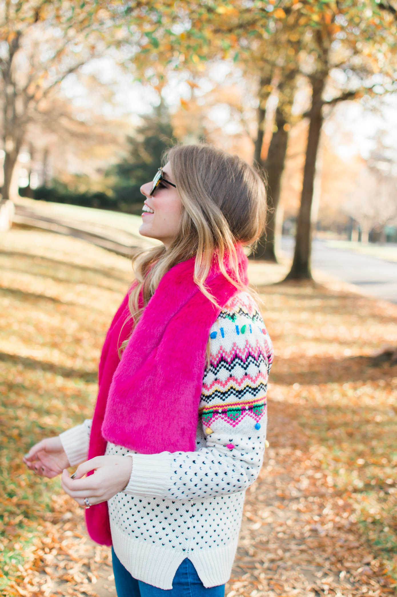 Pink Faux Fur Stole | Winter Wardrobe Must Haves | Louella Reese Life & Style Blog