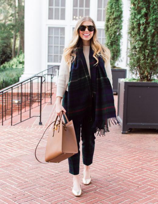 Plaid Work Pants | 10 Ways to Mix Patterns Like a Fashion Blogger | Louella Reese Life & Style Blog