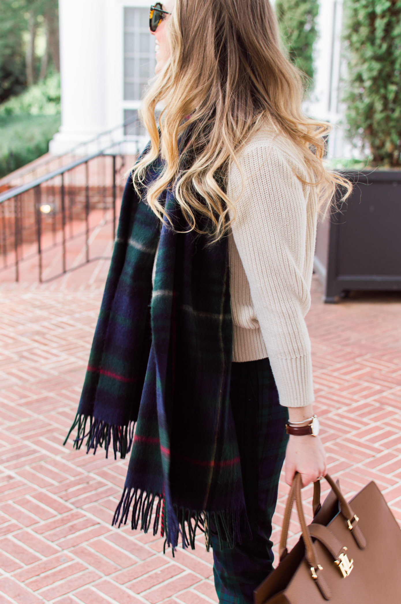 Preppy Plaid Work Outfit Idea | 10 Ways to Mix Patterns Like a Fashion Blogger | Louella Reese Life & Style Blog