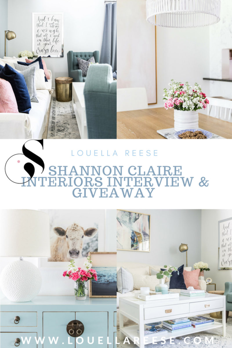 Shannon Claire Interiors Interview + Giveaway