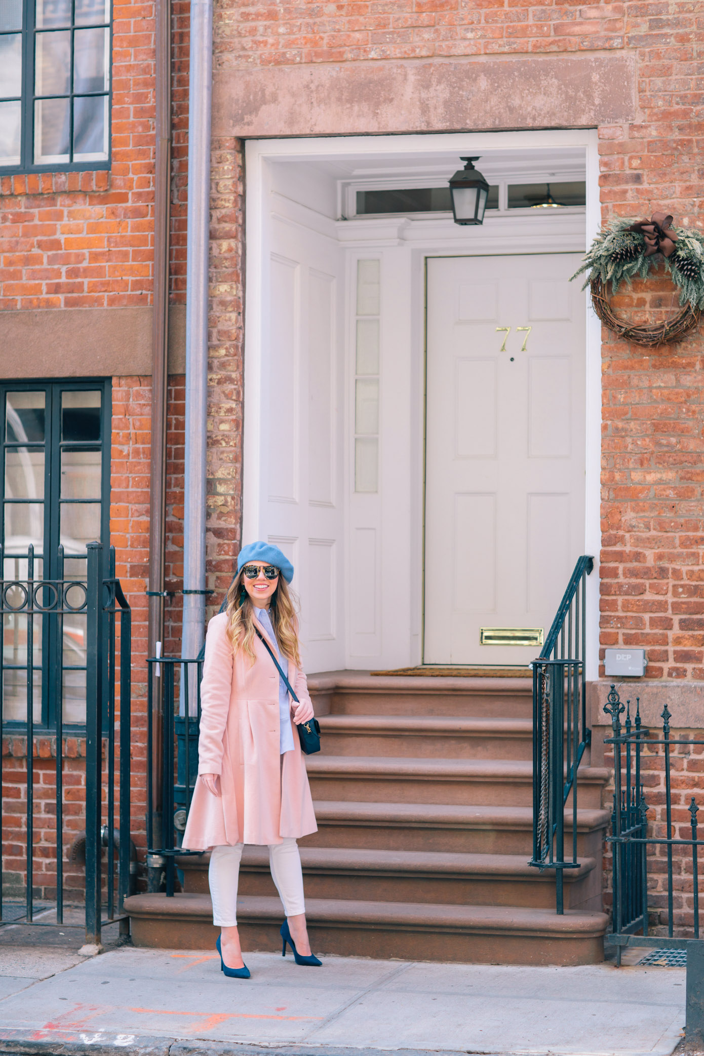 How to Transition from Winter to Spring with White Jeans | French Girl Style | Louella Reese Life & Style Blog