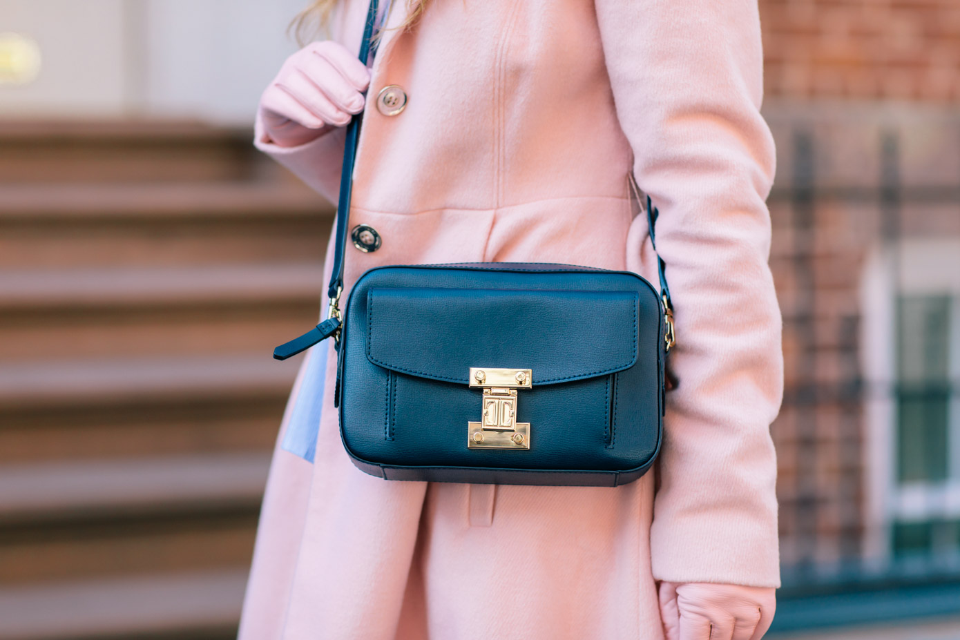 White Jeans: Transitioning into Spring | Navy Camera Bag | Louella Reese Life & Style Blog
