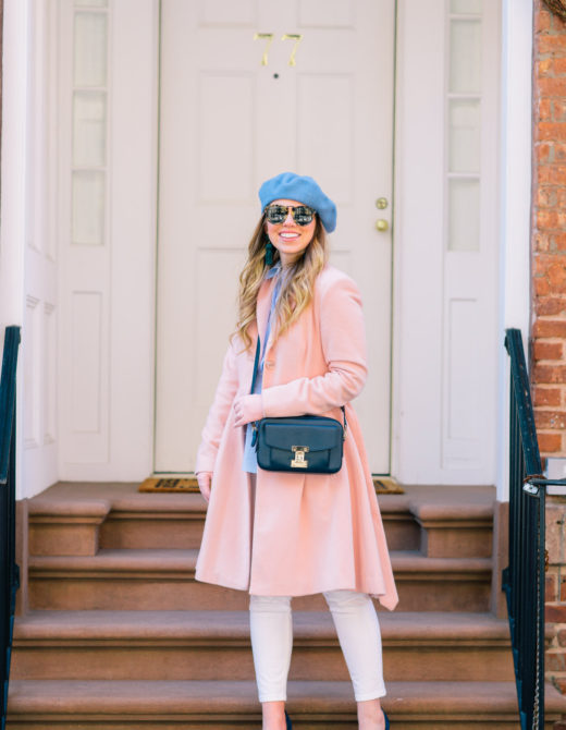 White Jeans: Transitioning into Spring | Blue, White, and Pink Outfit Idea | Louella Reese Life & Style Blog