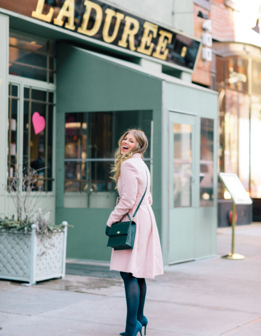 How to Bring Spring into Your Winter Wardrobe   Pink Wool Coat   Louella Reese Life & Style Blog