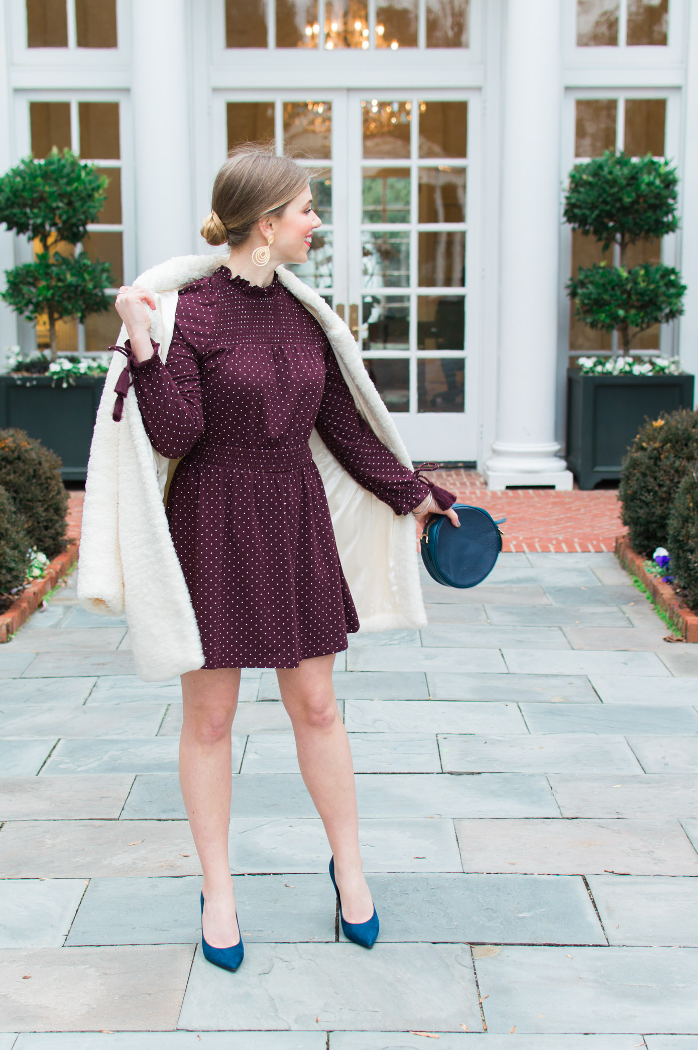Valentine's Day Dresses | Chic Winter Date Night Look | Louella Reese Life & Style Blog