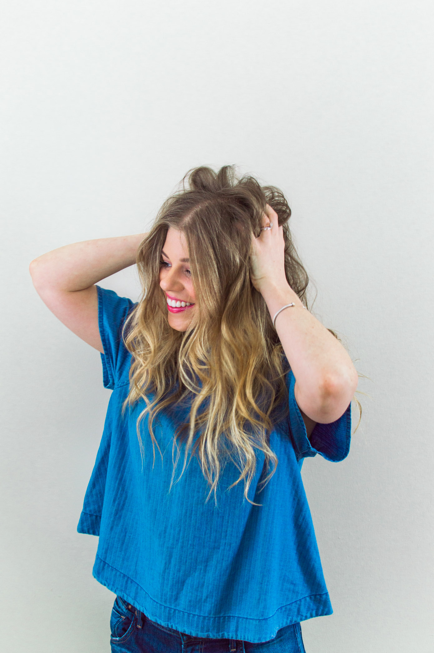 3 Hairstyles for NYFW | Messy Top Knot Hair Tutorials | Louella Reese Life & Style Blog