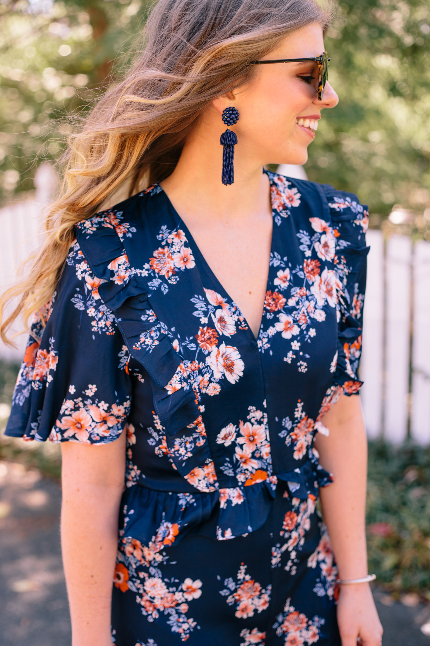 Navy Floral Maxi Dress + Dresses for Spring | Louella Reese Life & Style Blog