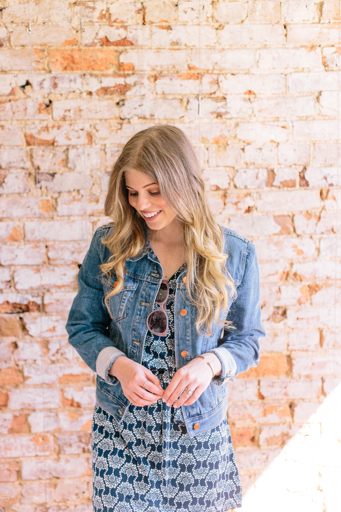Casual Knit Dress for Spring + Denim Jacket | Louella Reese Life & Style Blog