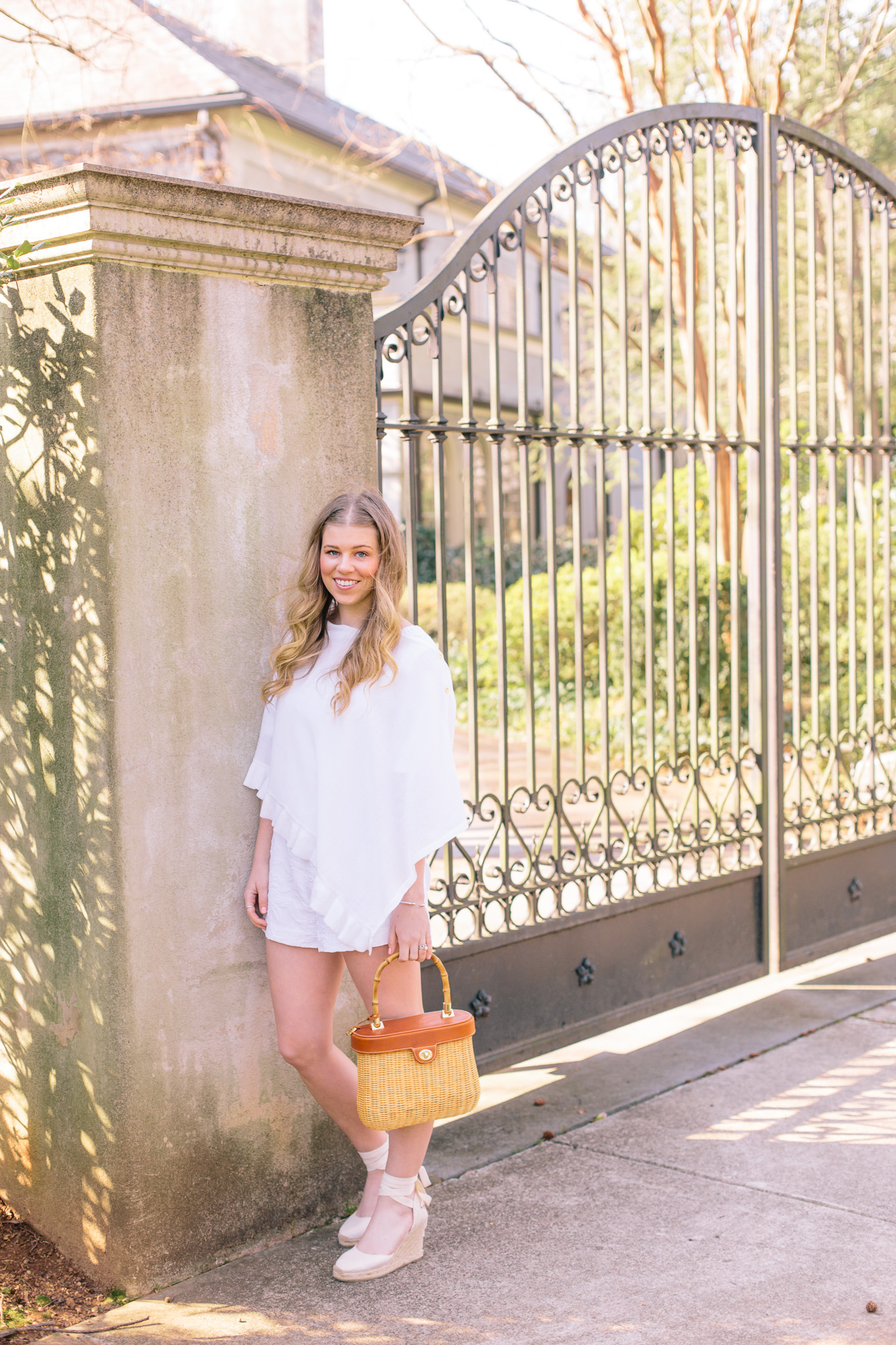 White Lace Trim Romper for Spring | Louella Reese Life & Style Blog