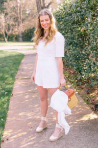 The White Lace Trim Romper Every Bride Needs