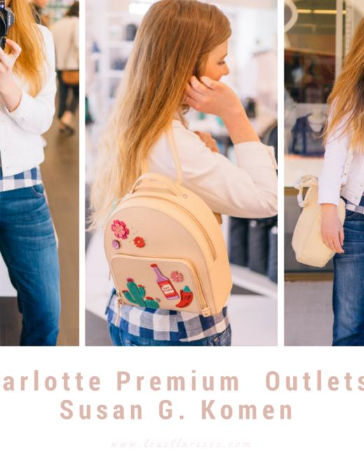 Charlotte Premium Outlets Spring Shopping + Susan G. Komen | Louella Reese Life & Style Blog