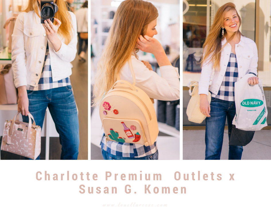 Charlotte Premium Outlets Spring Shopping + Susan G. Komen | Louella Reese Life & Style Blog