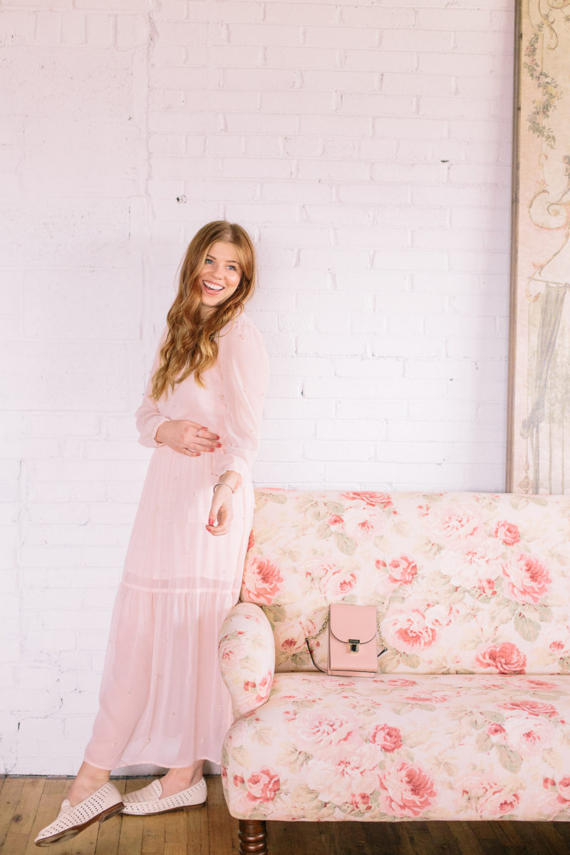 Sweetest Blush Midi Dress for Spring