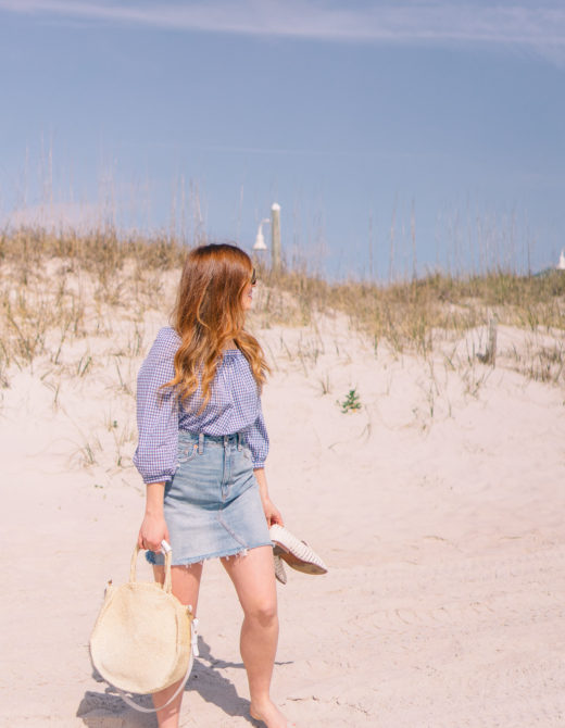 Denim Skirt under $60 | How to Style a Denim Skirt this Summer | Louella Reese Life & Style Blog