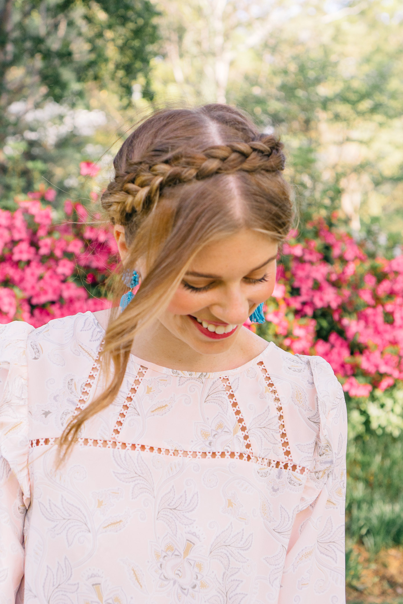Milkmaid Braid, Spring Hairstyles | Louella Reese Life & Style Blog