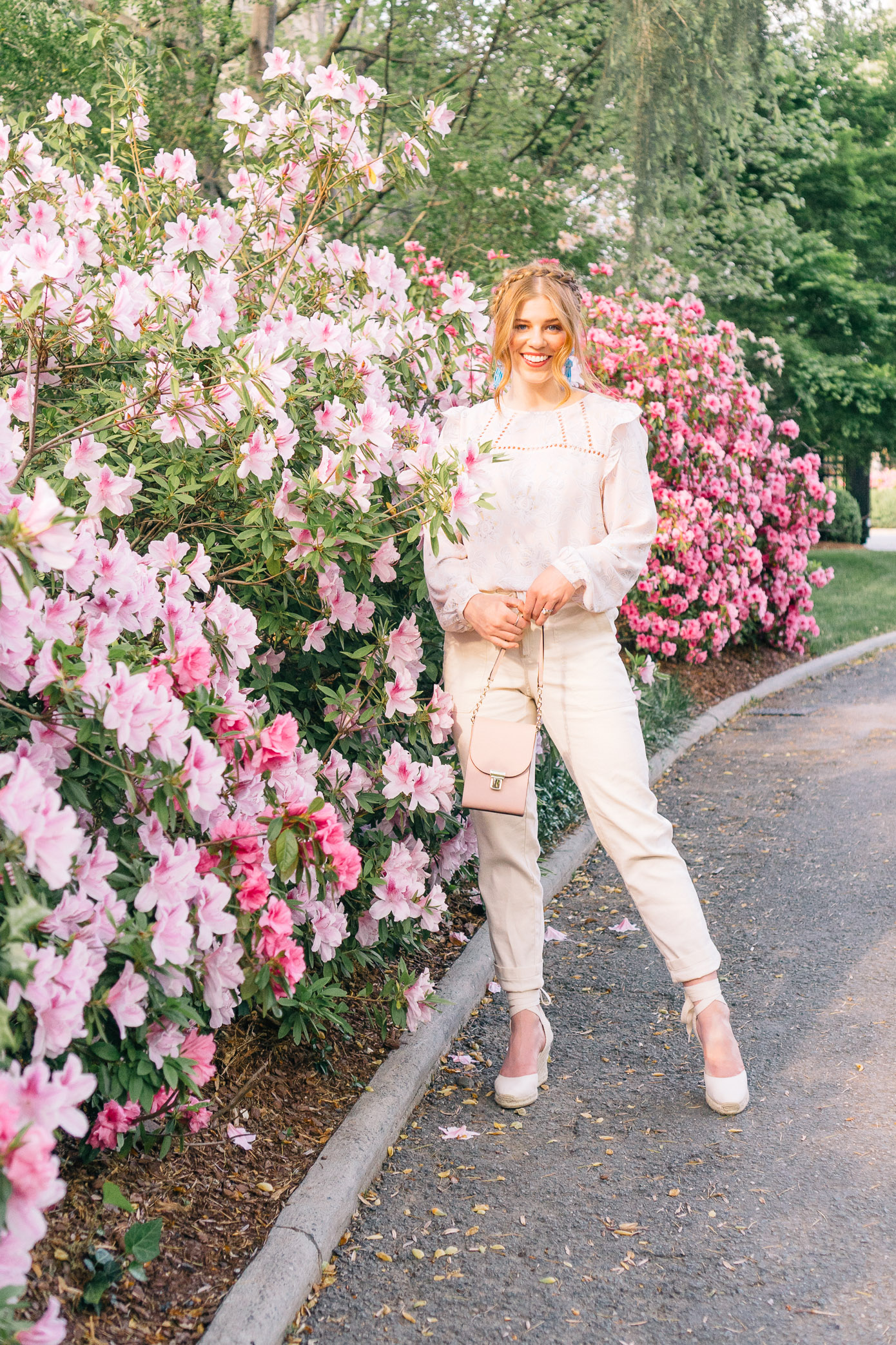 Feminine Floral Blouse and Perfect Linen Pants for Spring | Louella Reese Life & Style Blog
