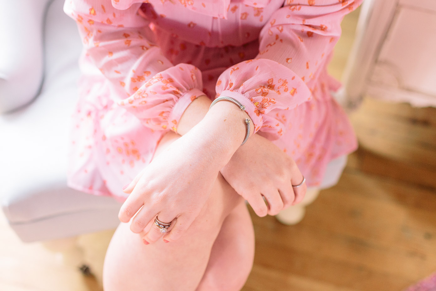Floral Pink Chiffon Dress, Spring Dresses | Louella Reese Life & Style Blog