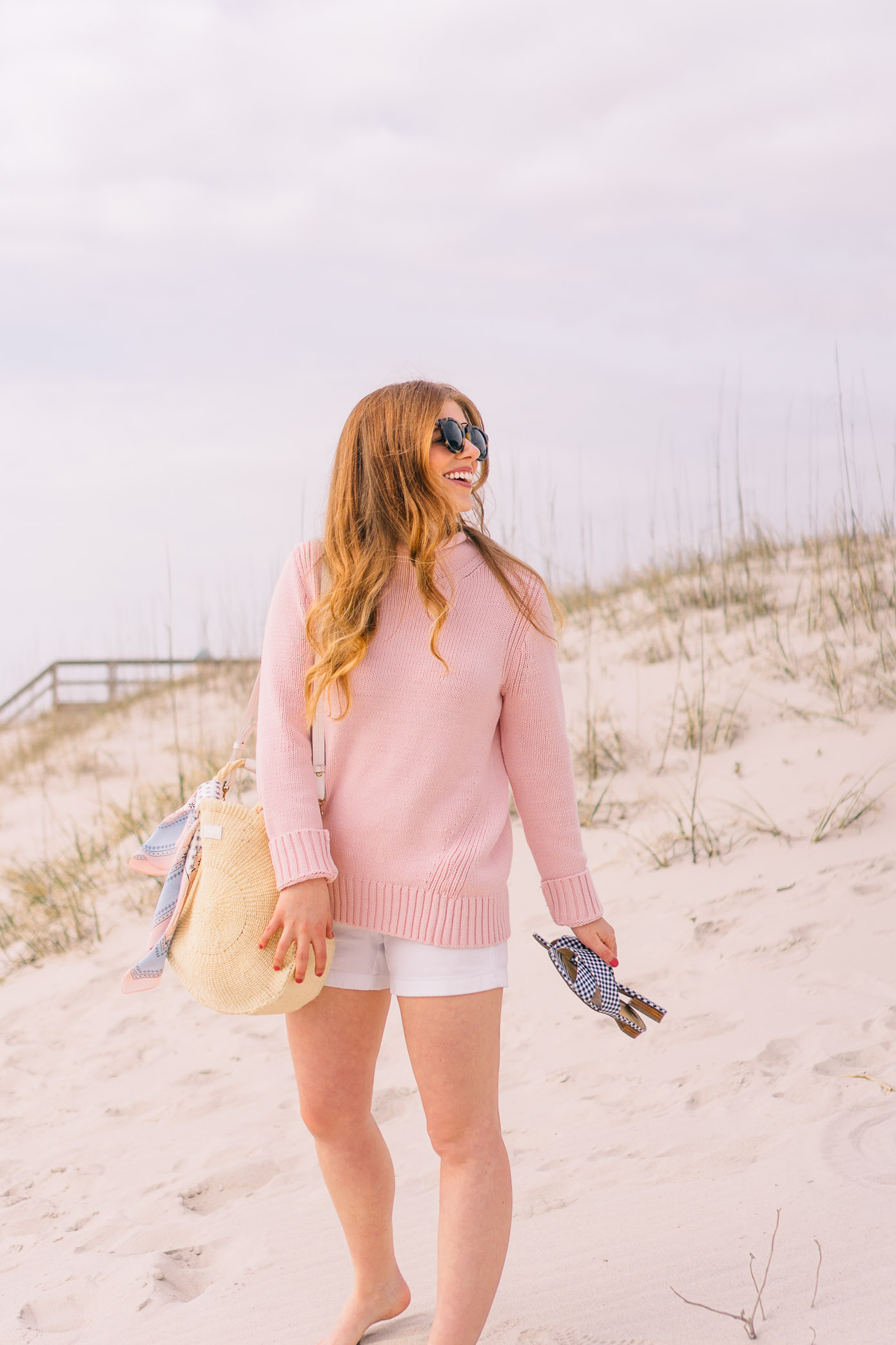 Preppy Pink Beach Sweater | Carolina Beach, NC