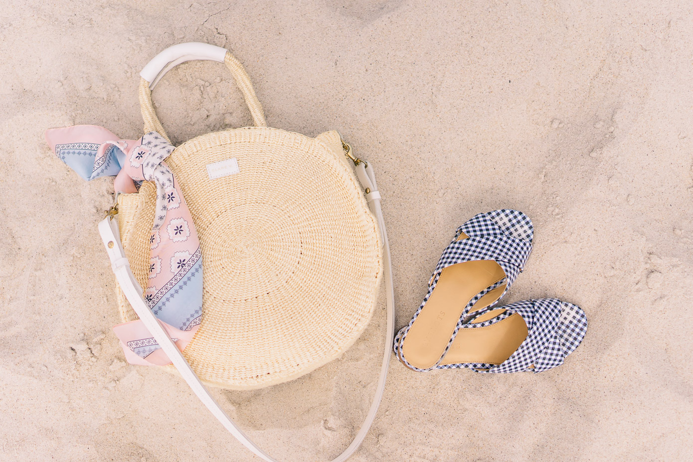Clare V. Alice Straw Tote + Gingham Sandals | Louella Reese Life & Style Blog