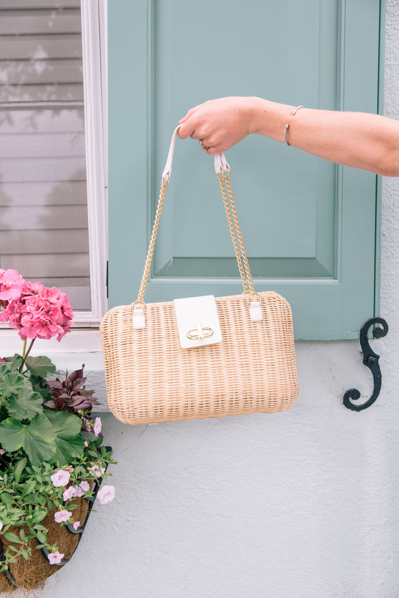 Chic Wicker Handbag | Talbots Friends & Family Event | Louella Reese Life & Style Blog