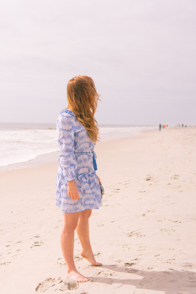 Blue & White Cover Up for the Beach | Carolina Beach Travel Guide | Louella Reese Life & Style Blog
