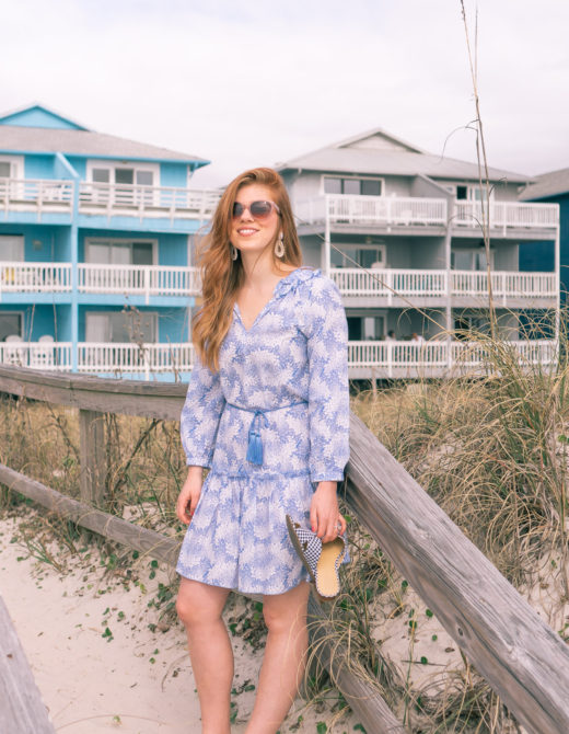 Blue and White Cover Up for the Beach | Louella Reese Life & Style Blog
