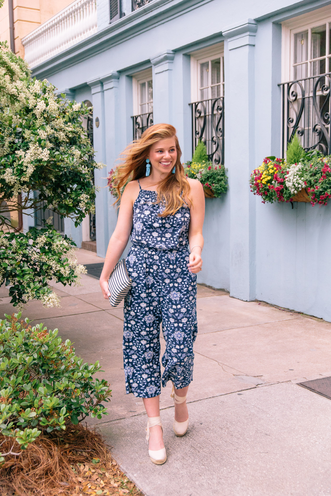 Navy Floral Jumpsuit | Charleston, SC