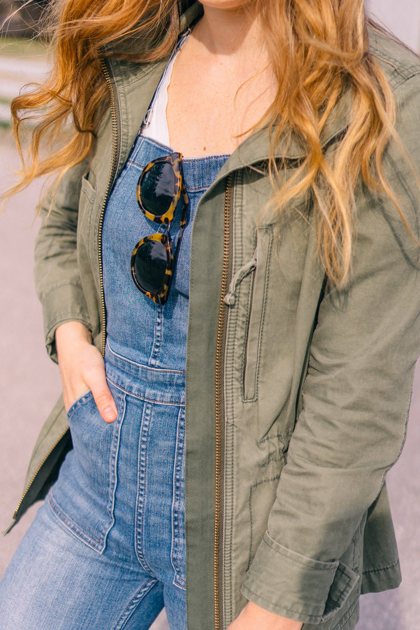 What to Wear Horseback Riding | Denim Overalls, Madewell Fleet Jacket | Louella Reese Life & Style Blog