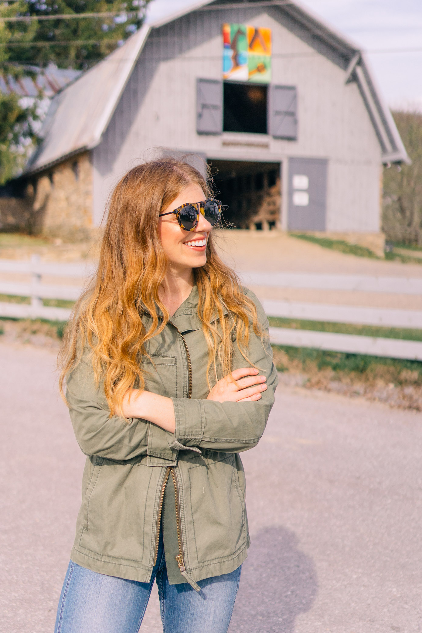 What to Wear Horseback Riding | Madewell Fleet Jacket | Louella Reese Life & Style Blog