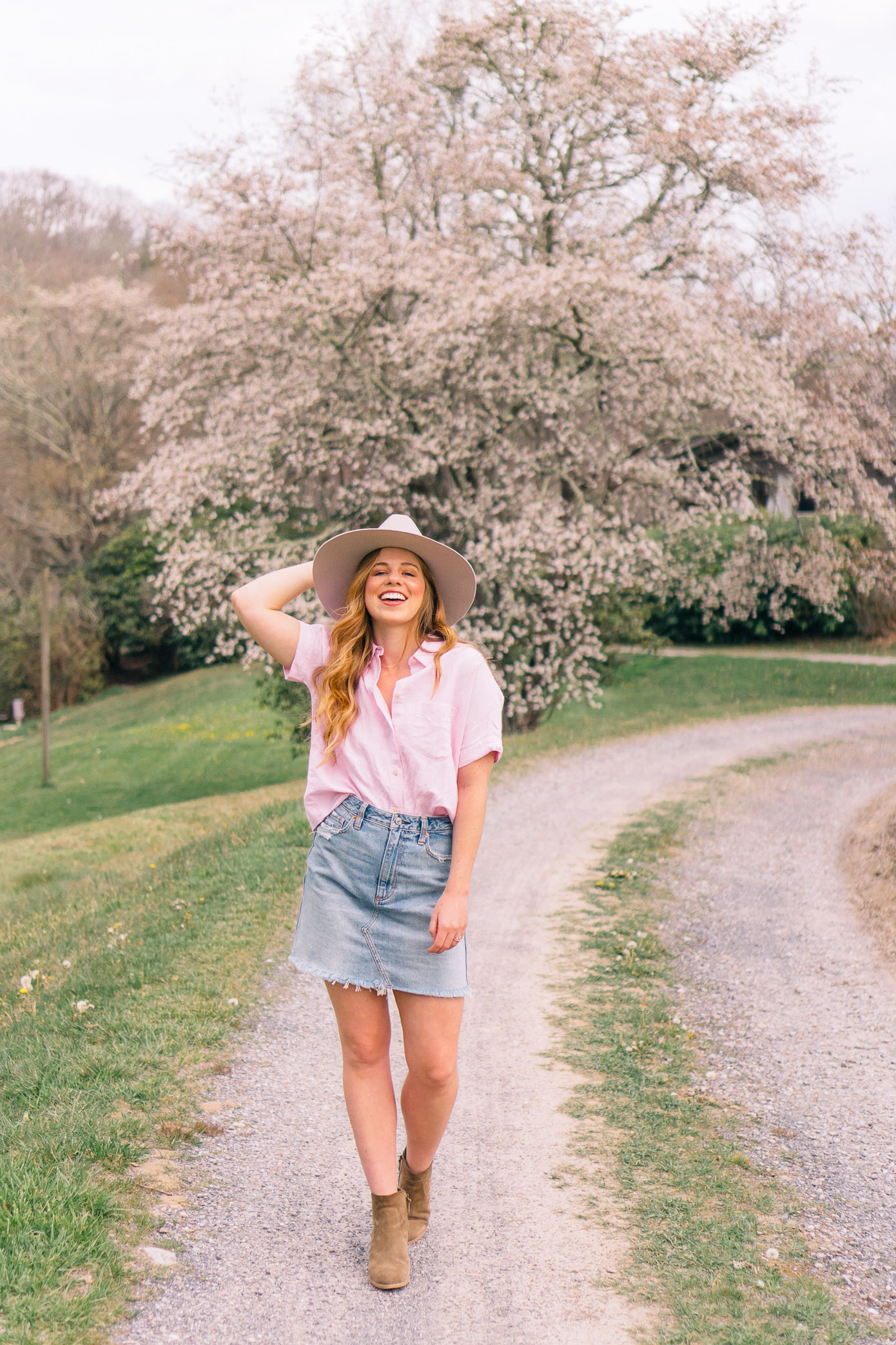 Ranch Weekend Style, How to Style a Denim Skirt this Summer | Louella Reese Life & Style Blog